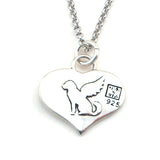 Angel Dog Sterling Silver Charm Necklace - Kevin N Anna