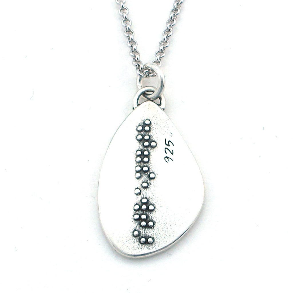 Strength Braille Sterling Silver Pendant Necklace - Kevin N Anna