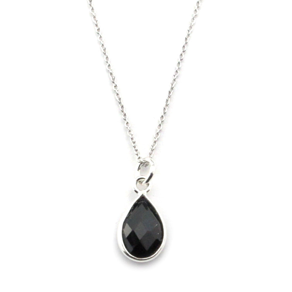Black Spinel Necklace-15081 - Kevin N Anna