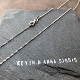 Anchor Chain - Sterling Silver 925 Rhodium Plated - Kevin N Anna