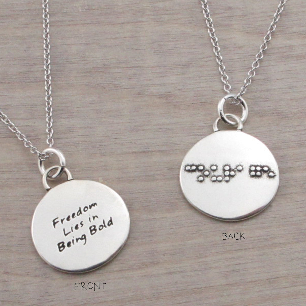 Courage Braille Necklace-B12 - Kevin N Anna