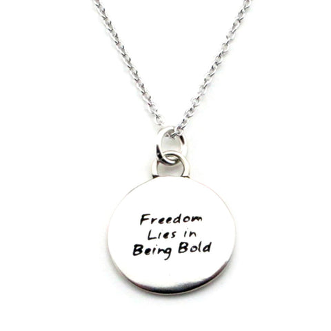 Time Braille Necklace-B21