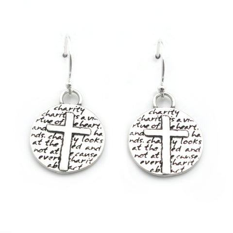 Two Hearts Earrings (Mother Love)-D101E