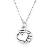 Two Hearts Sterling Silver Pendant Necklace (Mother Love quote) - Kevin N Anna
