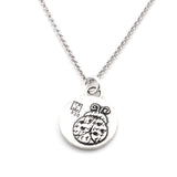 Ladybug Sterling Silver Small Pendant Necklace (Presence quote) - Kevin N Anna