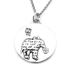Elephant Necklace (Strength)-D36 - Kevin N Anna