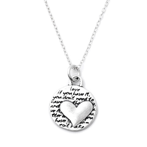 Two Hearts Necklace (Mother Love)-D101