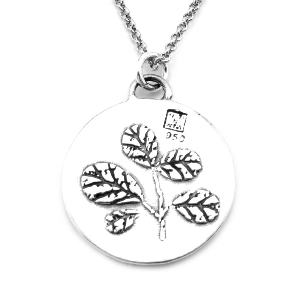 Foliage Sterling Silver Large Pendant Necklace (Dream quote) - Kevin N Anna