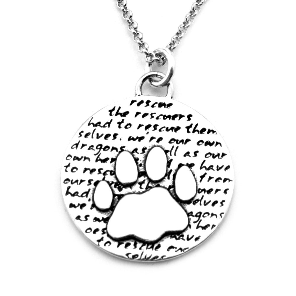 Paw Necklace (Rescue)-D58 - Kevin N Anna