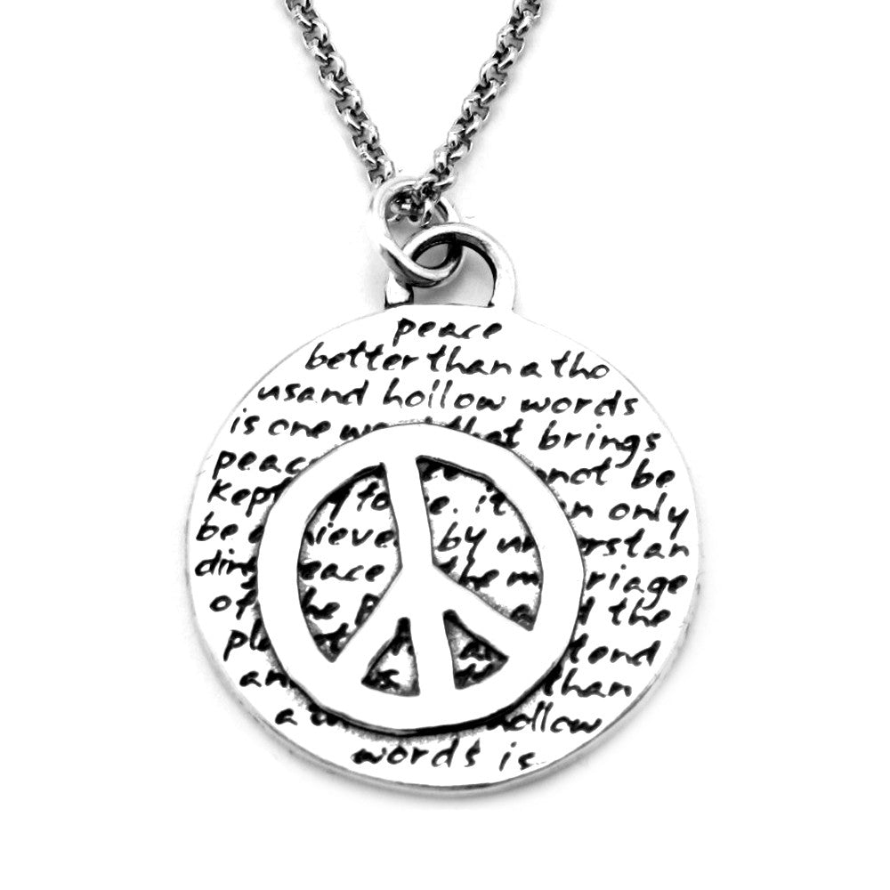 Peace Necklace (Peace)-D59 - Kevin N Anna