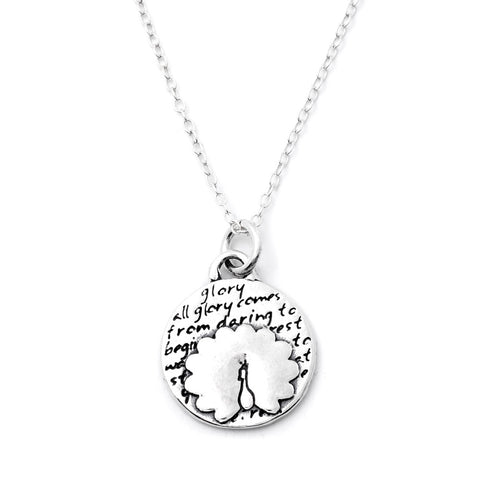 Kissing Birds Necklace (Love)-D06SM