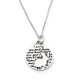 Rabbit Sterling Silver Small Pendant Necklace (Family quote) - Kevin N Anna