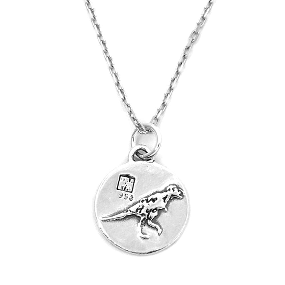 men pendant for necklace lyst silver metallic dinosaur normal laurent saint clothing product