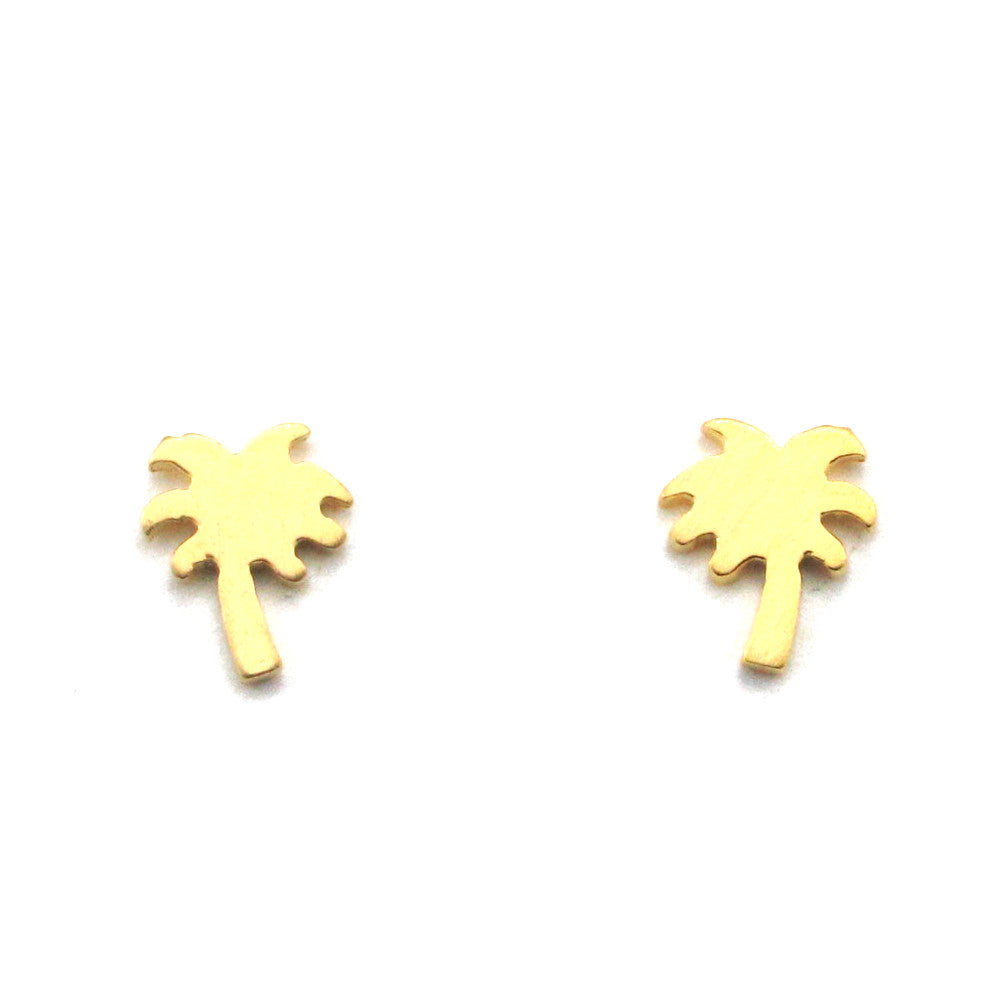 Palm Tree Earrings-FT51 - Kevin N Anna