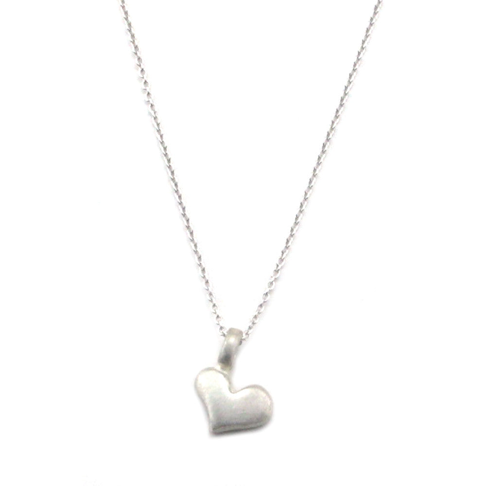 Sterling Silver Heart Necklace - Kevin N Anna