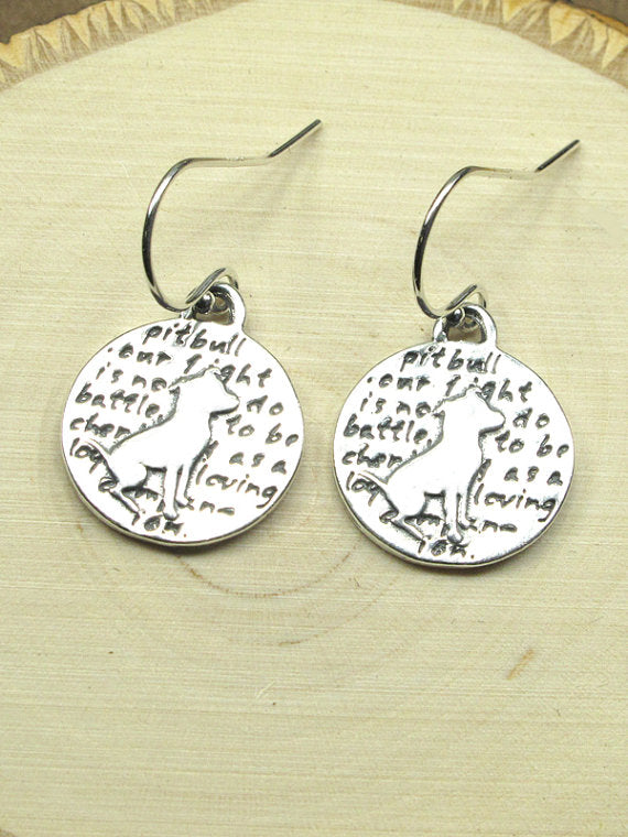 Pitbull Earrings-D91E - Kevin N Anna