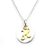 Two Tone Initial Necklace-Initial H - Kevin N Anna