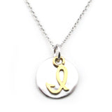 Two Tone Initial Necklace-Initial I - Kevin N Anna