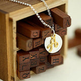 Two Tone Initial Necklace-Initial A - Kevin N Anna