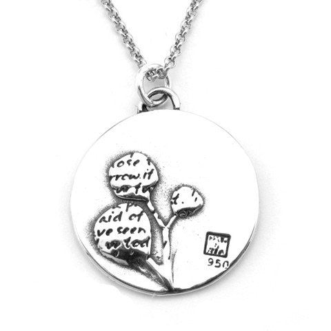 Tree Sterling Silver Large Pendant Necklace (Tomorrow quote) - Kevin N Anna
