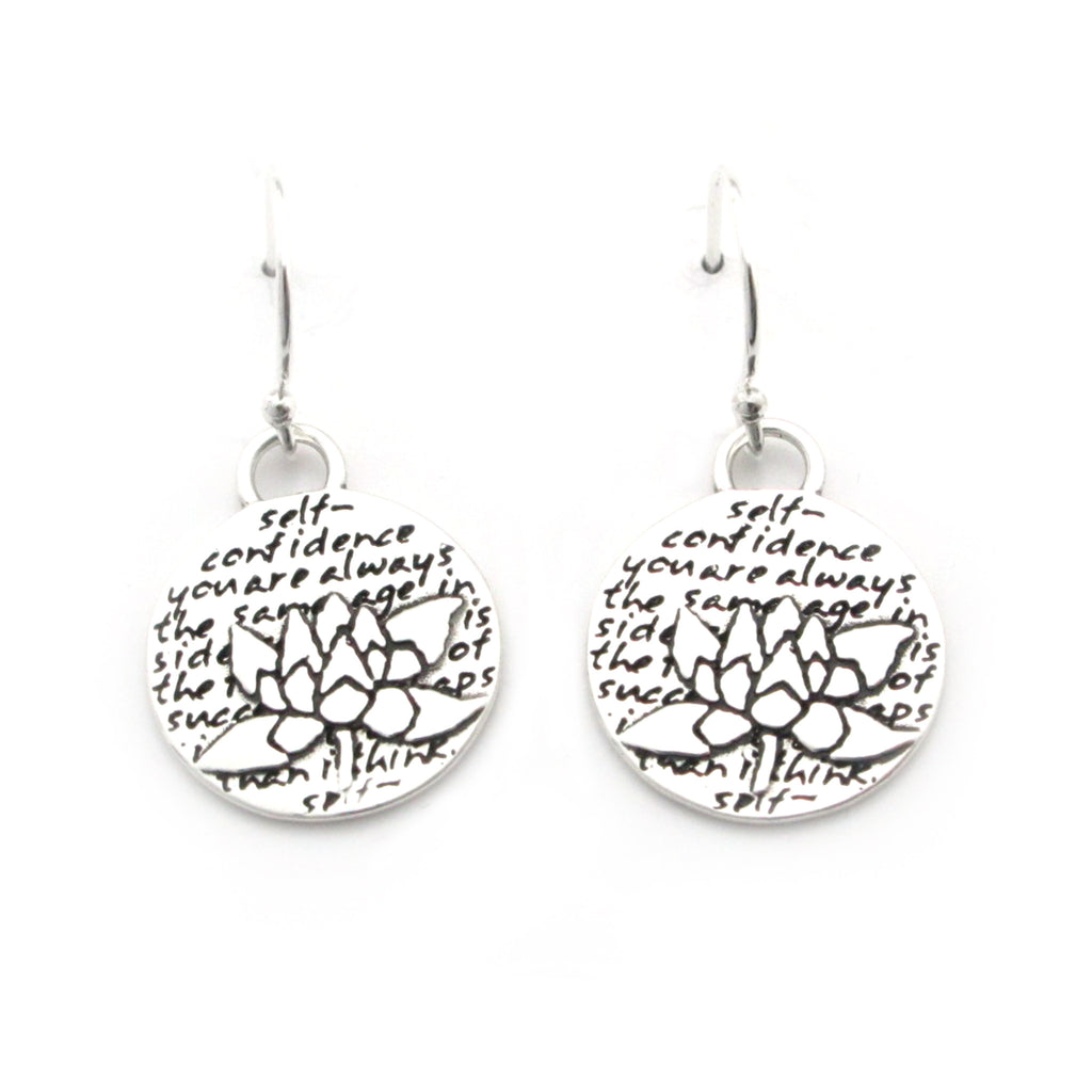 Lotus Earrings (Self-confidence)-D12E - Kevin N Anna
