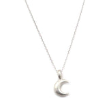 Sterling Silver Moon Necklace - Kevin N Anna