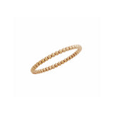 1.5mm beaded sterling silver ring (ROSE GOLD) - Kevin N Anna