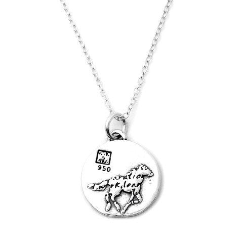 Horse Sterling Silver Small Pendant Necklace (Success quote) - Kevin N Anna