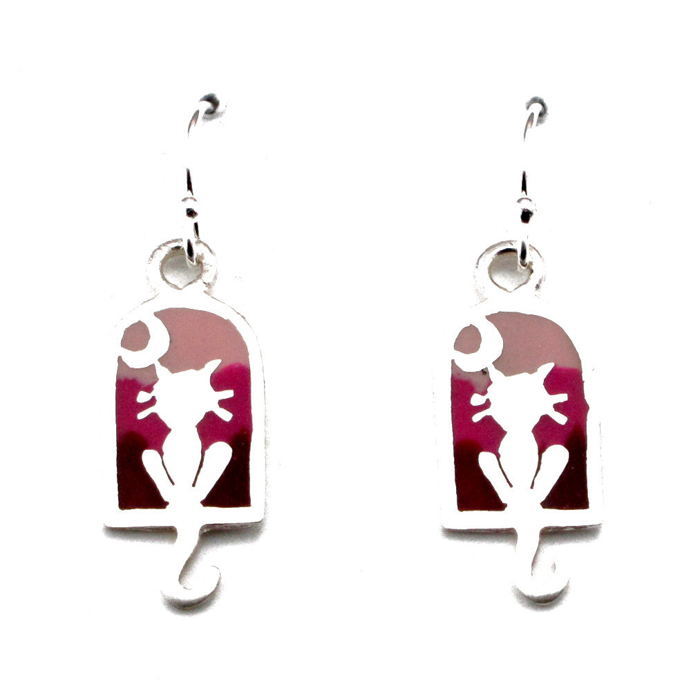 Cat Earrings-T9902E - Kevin N Anna