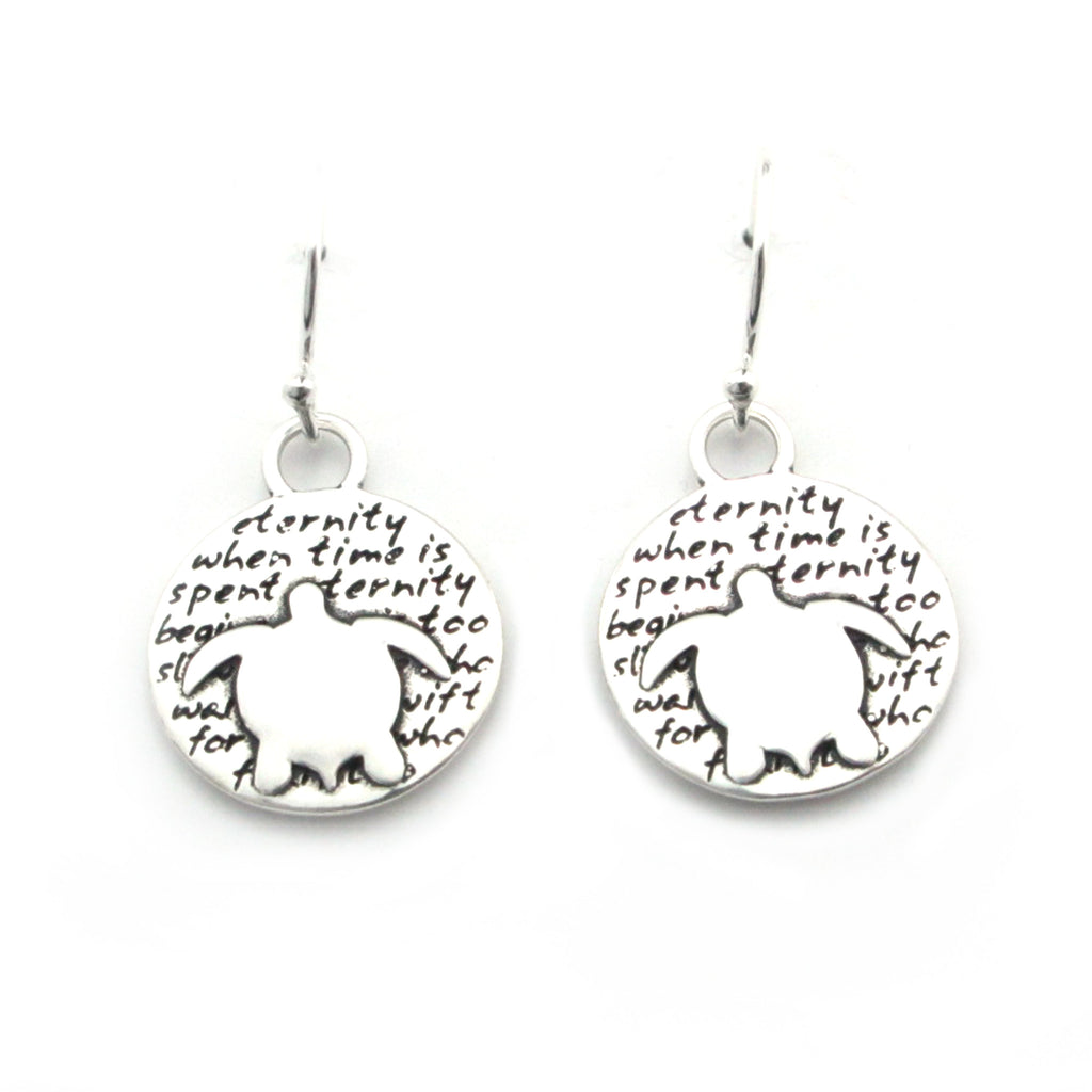 Turtle Earrings (Eternity)-D100E - Kevin N Anna