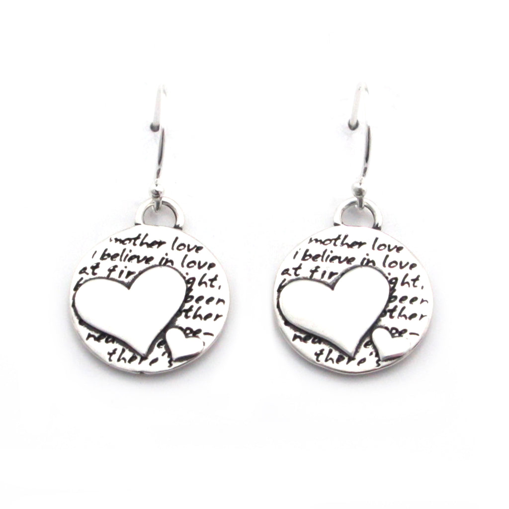 Two Hearts Earrings (Mother Love)-D101E - Kevin N Anna