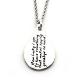 A.A. Milne Quote Necklace-W04 - Kevin N Anna