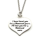 Love Quote Heart Shape Necklace-W05 - Kevin N Anna