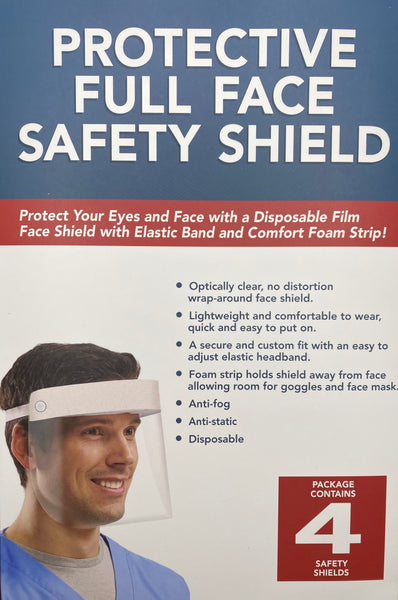 Full Face Protective Shield - 4 Per Box