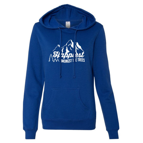 Happiest Amongst The Trees Women's Hoodie - Cobalt
