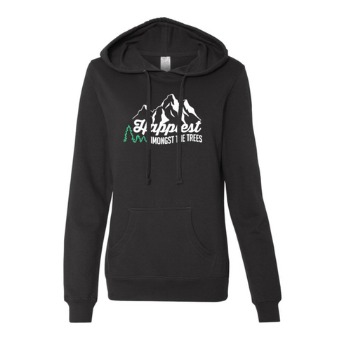 Happiest Amongst The Trees Women's Hoodie - BLACK