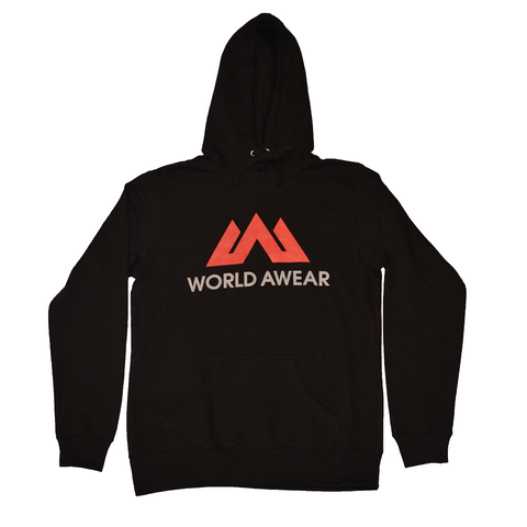 Classic Women's Hoodie - Black/Coral