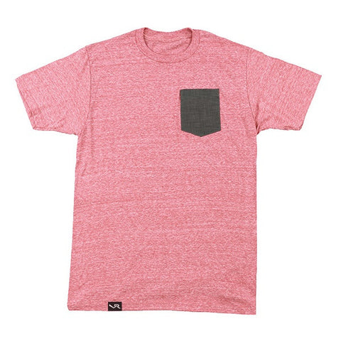 Vooray Linen Pocket Tee - Heather Salmon