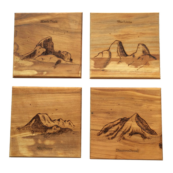 Coaster Set - Mountains of the Pacific Northwest