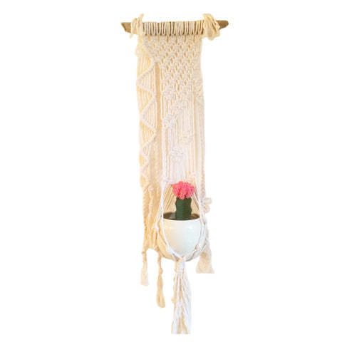 Macramé Cotton Plant WallHanging