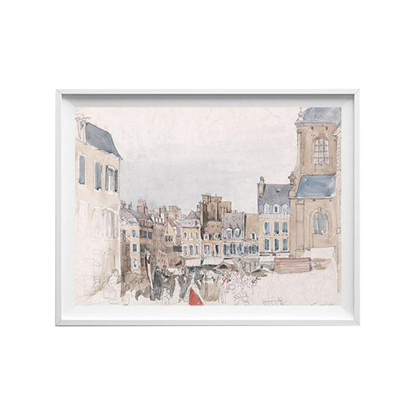 French Marketplace Art Print