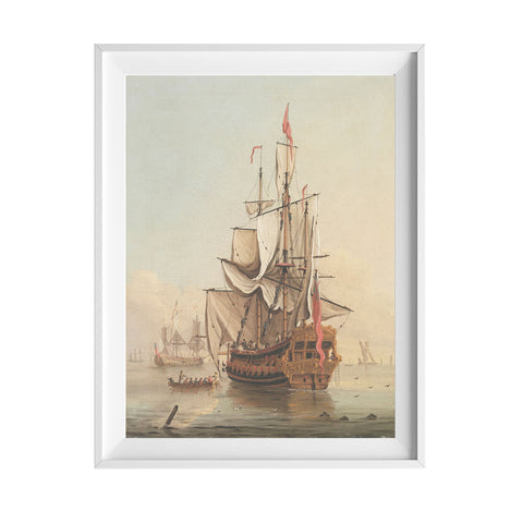 Shipping In A Calm Art Print