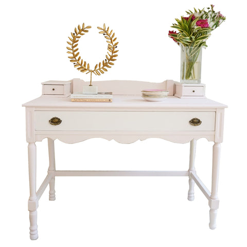 Vintage Blush and White Desk