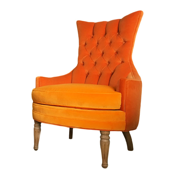 Hollywood Regency Tufted Chair
