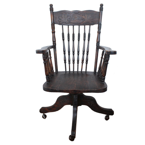 Early 1900s Vintage Bankers Chair