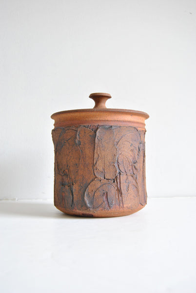 Ed Drahanchuk Lidded Jar Container From Alberta Canada
