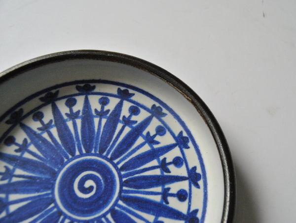 Helga Grove Studio Plate Pottery From Victoria BC Canada in Blue