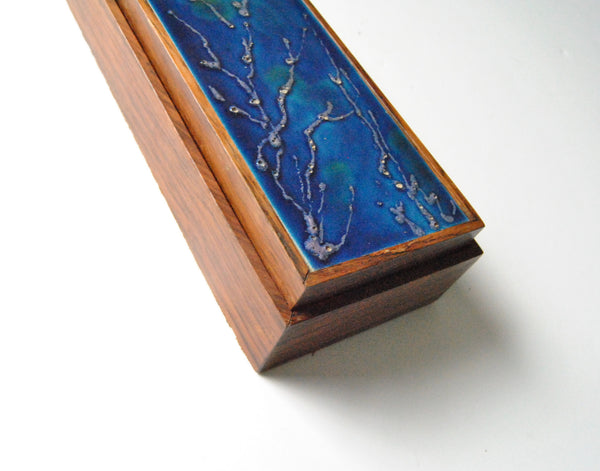 Large Bagni Rosewood Box with Ceramic Inlay