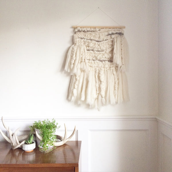 Large Ivory Woven Wallhanging