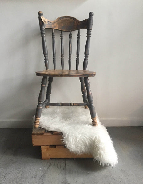 Vintage Wood Spindle Chair